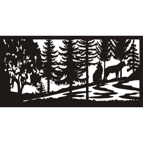 24 x 48 Two Wolves River - AJD Designs Homestore
