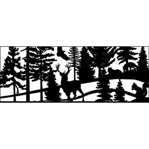 24 x 60 Squirrel Fox Eagle Buck Trees - AJD Designs Homestore