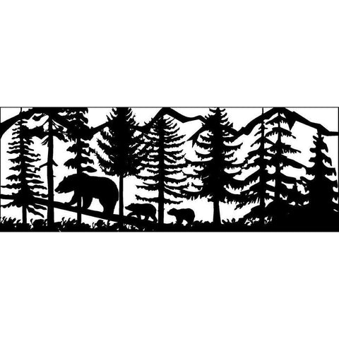 24 x 60 Three Bears Mountains Trees - AJD Designs Homestore