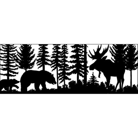 24 X 60 Two Bears Moose - AJD Designs Homestore