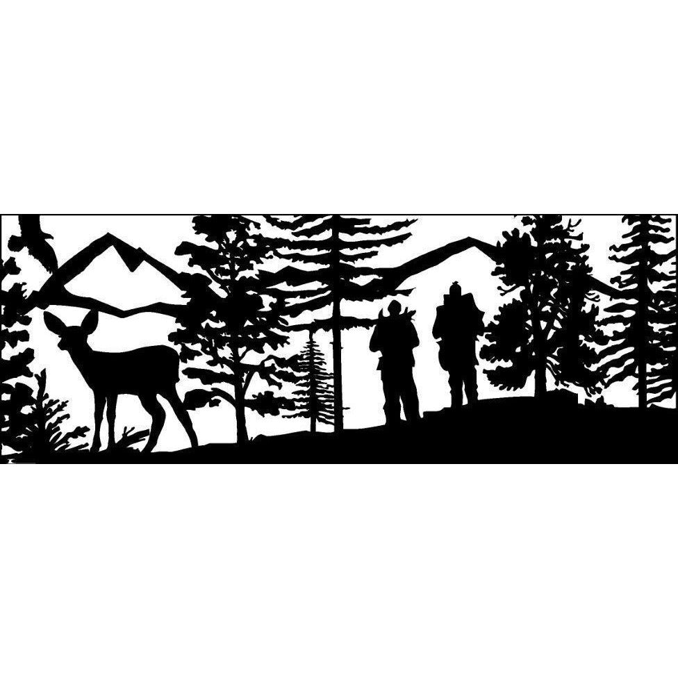 24 x 60 cross country skiers - AJD Designs Homestore
