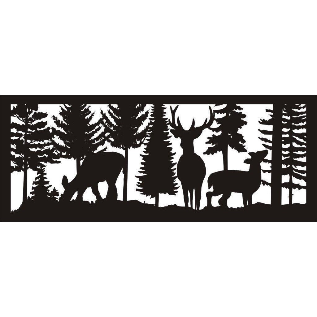 24 X 60 Buck And Two Does Feeding - AJD Designs Homestore