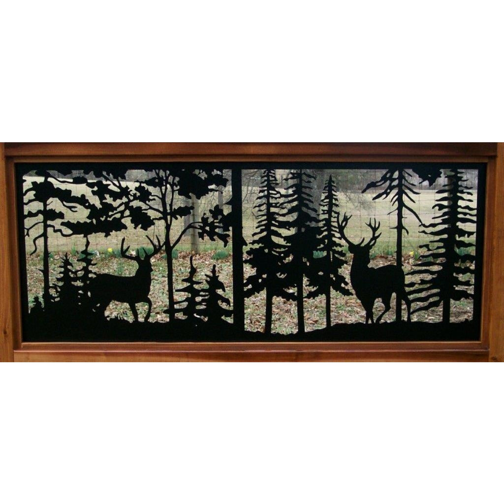 24 X 60 Two  Buck Deer Facing Off One Another - AJD Designs Homestore