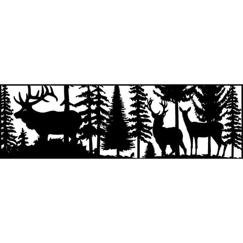 24 X 72 Doe Buck and Elk - AJD Designs Homestore