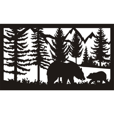 28 X 48 Two Bears - AJD Designs Homestore