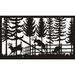 28 X 48 Deer in Garden - AJD Designs Homestore