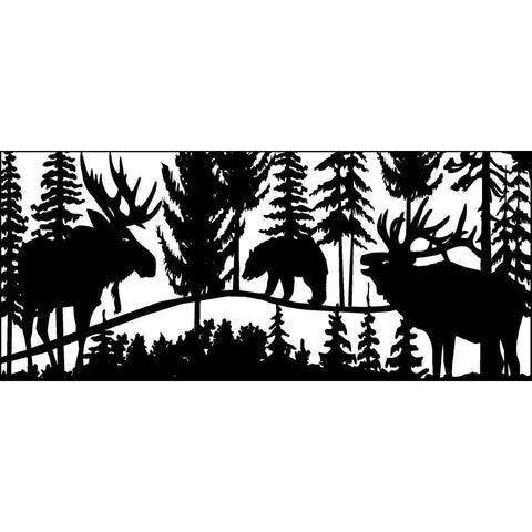 28 X 60 Elk Bear and Moose - AJD Designs Homestore