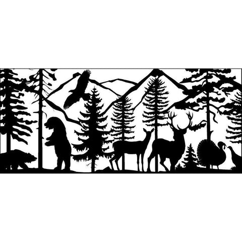 28 x 60 Two Bears Eagle Two Deer Turkeys - AJD Designs Homestore