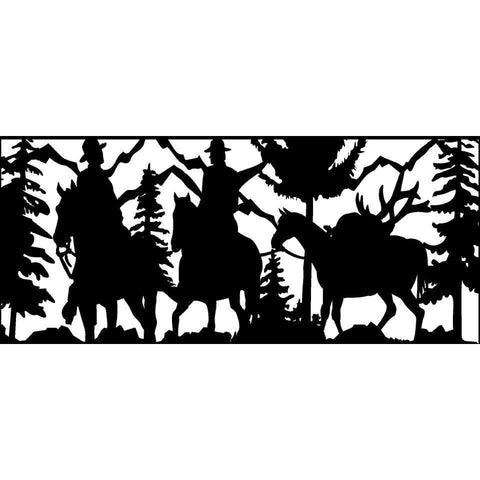 28 X 60 Two Hunters Packing Out Their Elk - AJD Designs Homestore