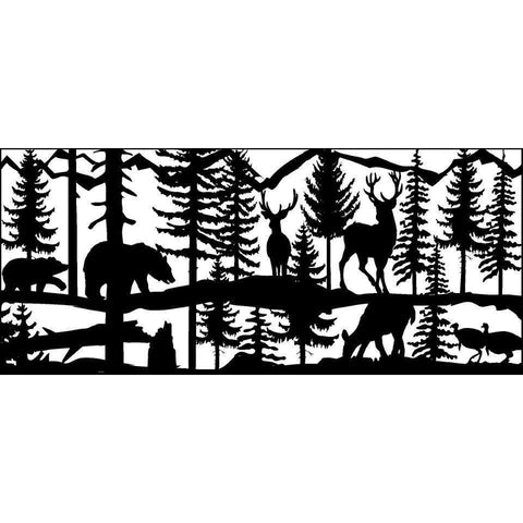 28 X 60 Two Turkeys Two Bucks Doe Two Bear - AJD Designs Homestore