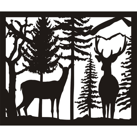 30 X 36 Doe Buck Trees - AJD Designs Homestore