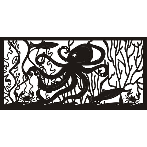 30 X 60 Fish Crabs Octupus Sea Life - AJD Designs Homestore