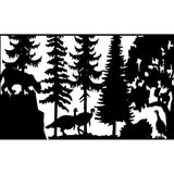 30 X 48 Mountain Lion and Turkeys - AJD Designs Homestore