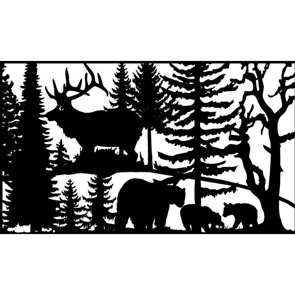 30 X 48 Three Bears Elk - AJD Designs Homestore