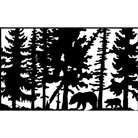 30 X 48 Two Bears Leaning Tree - AJD Designs Homestore