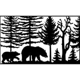 30 X 48 two Bears Trees - AJD Designs Homestore