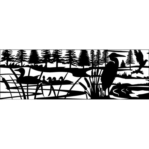 30 X 84 Ducks Heron Eagle Fish cattails 1 - AJD Designs Homestore