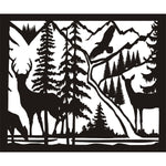 30 X 36 Doe Buck Doe Eagle River - AJD Designs Homestore