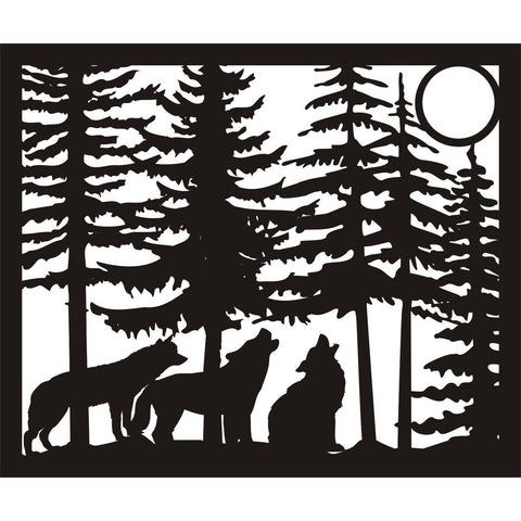 30 X 36 Three wolves moon - AJD Designs Homestore