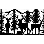 30 X 48 Three Deer Trees Mountains - AJD Designs Homestore