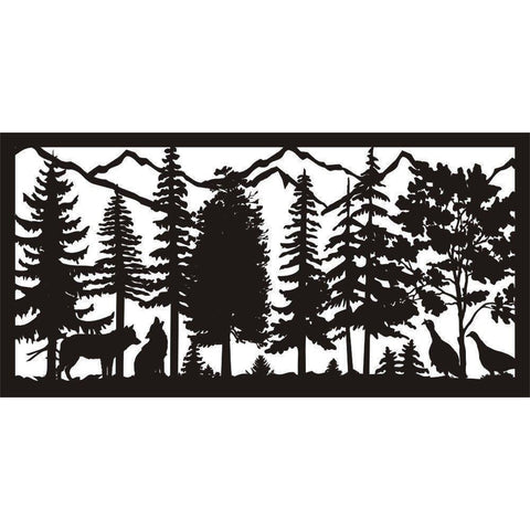 30 x 60 Coyotes Turkeys Mountains - AJD Designs Homestore