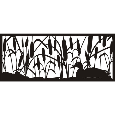30 x 72 Cattails Bullrush Duck - AJD Designs Homestore