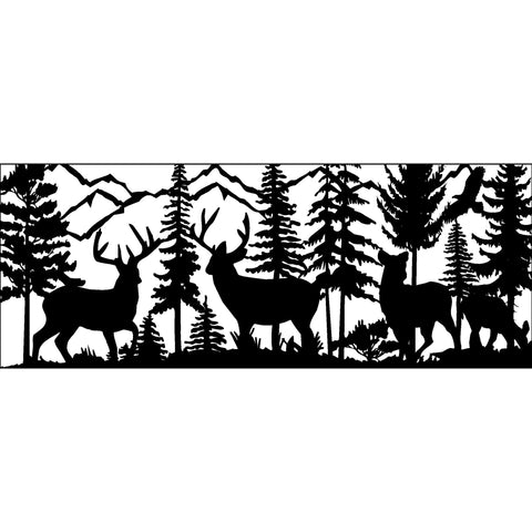 30 x 72 Two Bucks Two Does Eagle Mountains - AJD Designs Homestore