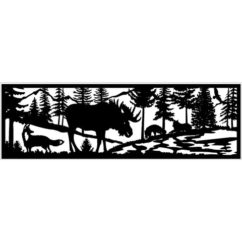 30 x 96 Fox Moose River Mountains - AJD Designs Homestore