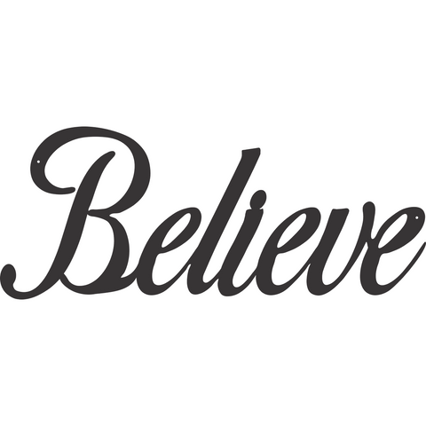 Inspirational Wall Art Believe