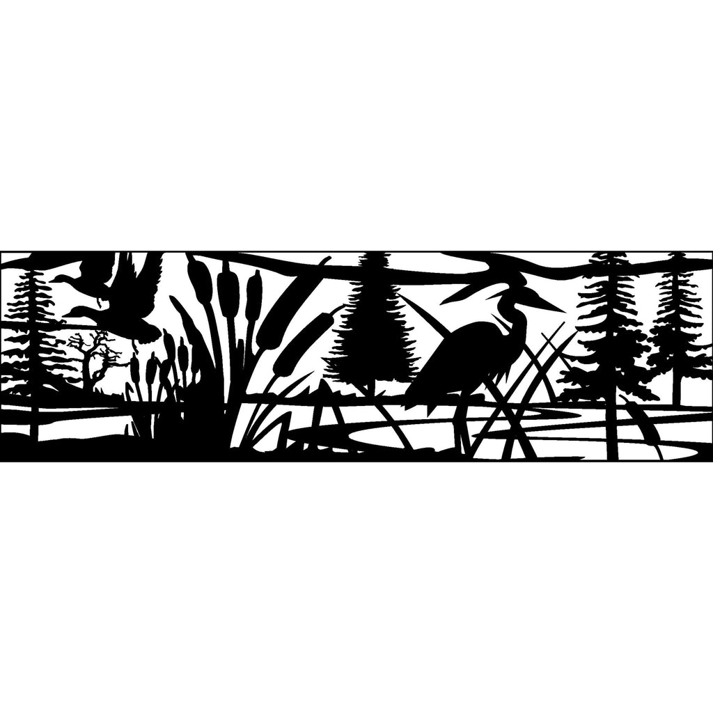 30 X 96 Ducks Cattails Heron and Lake - AJD Designs Homestore