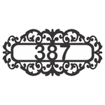 Personalize Fancy Address Wall Sign House Numbers