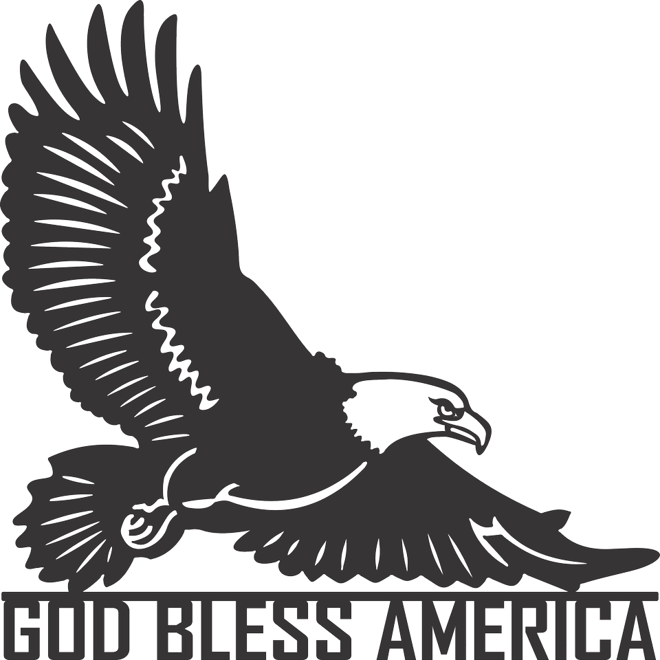 God Bless America Eagle - AJD Designs Homestore