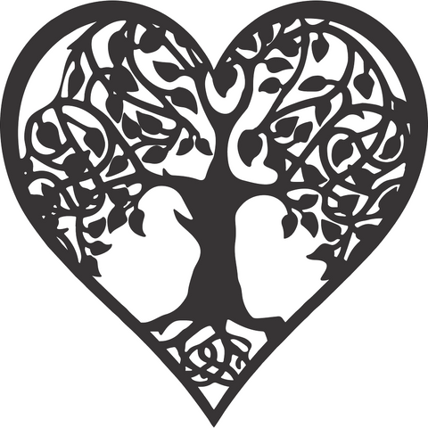 Tree of Life Heart Home Wall Decor