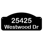Personalize Basic Address Wall Sign House Numbers Street Address