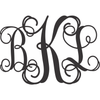 Three Initial Monogram Letters