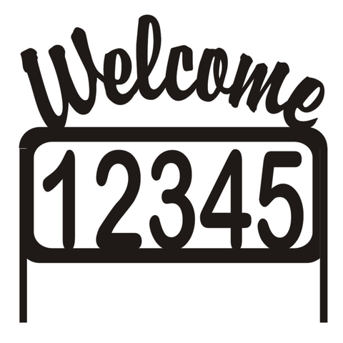 Personalize Address Welcome Yard Sign House Numbers