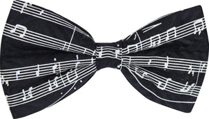 Black Music Manuscript Novelty Bow Tie