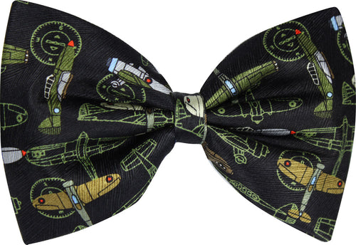 Vintage Military Aeroplane Novelty Bow Tie