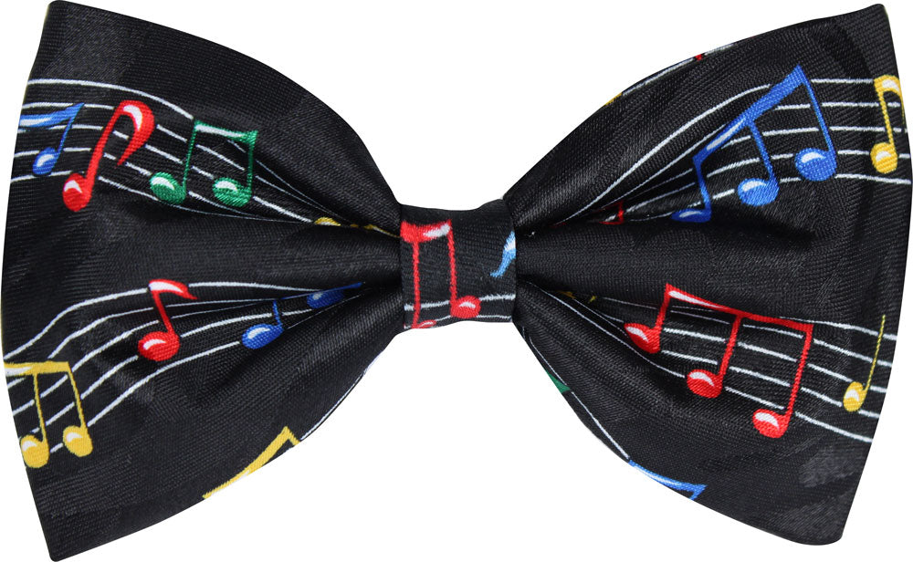 Multi-Coloured Music Manuscript Novelty Bow Tie