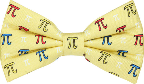 PI Symbol Yellow Novelty Bow Tie