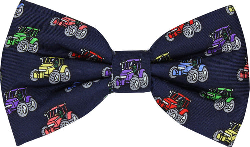 Multi-Coloured Tractors Novelty Bow Tie