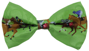 Horse Racing Track Novelty Bow Tie