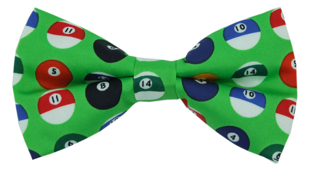 Pool Balls Novelty Bow Tie