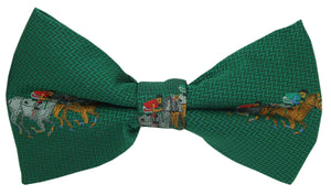 Horse Racing Green Novelty Bow Tie