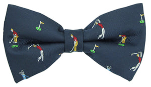Golf Navy Novelty Bow Tie