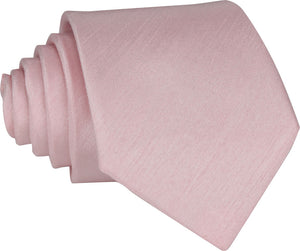 Light Pink Shantung Skinny Tie
