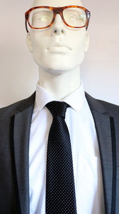 Harry Hart/Galahad (Kingsman) Black Pin Dot Tie