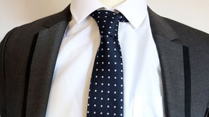 Harry Hart/Galahad (Kingsman) Navy Spotty Tie