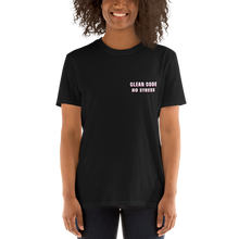 No Stress Black Tee