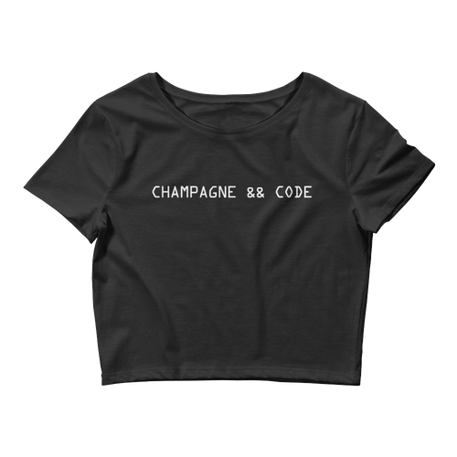 Champagne && Code Crop Top